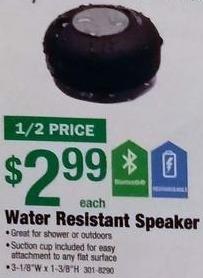 Menards Black Friday: Water Resistant Bluetooth Speaker for $2.99