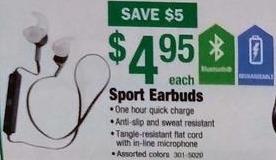 Menards Black Friday: Sport Bluetooth Earbuds for $4.95