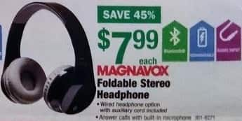 Menards Black Friday: Magnavox Foldable Stereo Bluetooth Headphone for $7.99