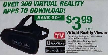 Menards Black Friday: Virtual Reality Viewer for $3.99