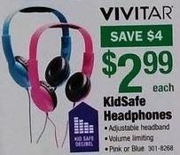 Menards Black Friday: Vivitar KidSafe Headphones for $2.99