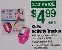 Menards Black Friday: Kid's Activity Tracker for $4.99