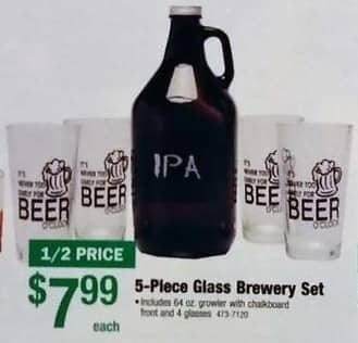 Menards Black Friday: Glass Brewery Set, 5-Piece for $7.99