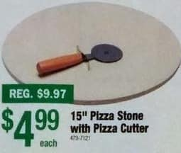 """Menards Black Friday: 15"""" Pizza Stone with Pizza Cutter for $4.99"""