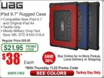 "Frys Black Friday: UAG iPad 9.7"" Rugged Case for $38.00"