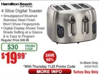 Frys Black Friday: Hamilton Beach 4 Slice Digital Toaster for $19.99