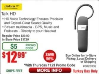Frys Black Friday: Jabra Talk HD Bluetooth Headset for $12.99