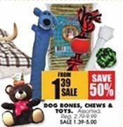 Blains Farm Fleet Black Friday: Dog Bones, Chews and Toys for $1.39 - $5.00