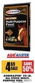 Blains Farm Fleet Black Friday: Agrimaster 50 Lb. All Stock Multi-Purpose Feed for $4.69