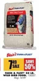 Blains Farm Fleet Black Friday: Farm & Fleet 50 lb. Wild Bird Food for $7.49