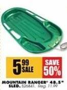 "Blains Farm Fleet Black Friday: Mountain Ranger 48.5"" Sled for $5.99"