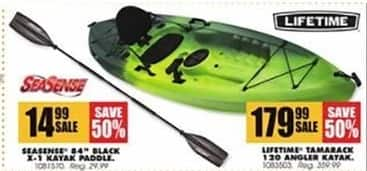 "Blains Farm Fleet Black Friday: SeaSense 84"" Black X-1 Kayak Paddle for $14.99"