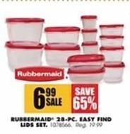 Blains Farm Fleet Black Friday: Rubbermaid Easy Find Lids Set, 28-Pc. for $6.99