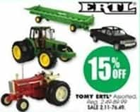 Blains Farm Fleet Black Friday: Tomy ERTL toys - 15% Off