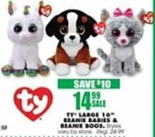 "Blains Farm Fleet Black Friday: TY Large 16"" Beanie Babies and Beanie Boos for $14.99"