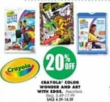 Blains Farm Fleet Black Friday: Crayola Color Wonder and Art with Edge - 20% Off