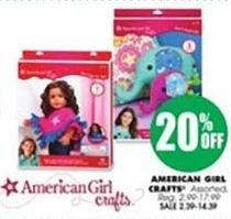 Blains Farm Fleet Black Friday: American Girl Crafts - 20% Off