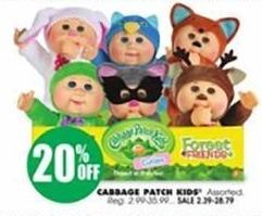 Blains Farm Fleet Black Friday: Cabbage Patch Kids - 20% Off