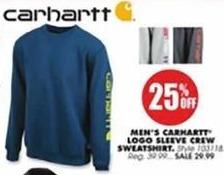 Blains Farm Fleet Black Friday: Carhartt Men's Logo Sleeve Crew Sweatshirt - 25% Off