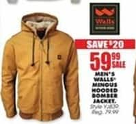 Blains Farm Fleet Black Friday: Walls Men's Mingus Hooded Bomber Jacket for $59.99