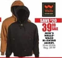 Blains Farm Fleet Black Friday: Walls Men's Waco Bi-Swing Jacket for $39.99