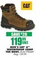 "Blains Farm Fleet Black Friday: CAT Men's 6"" Waterproof Composite Toe Boot for $119.99"