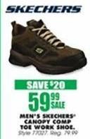 Blains Farm Fleet Black Friday: Skechers Men's Canopy Composite Toe Work Shoe for $59.99