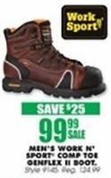 Blains Farm Fleet Black Friday: Work n' Sport Men's Composite Toe Genflex II Boot for $99.99