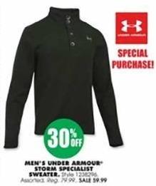 Blains Farm Fleet Black Friday: Under Armour Men's Storm Specialist Sweater for $59.99