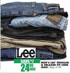 Blains Farm Fleet Black Friday: Lee Men's Core Jeans, Regular and Relaxed Fits for $24.99