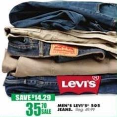 Blains Farm Fleet Black Friday: Levi Men's 505 Jeans for $35.70