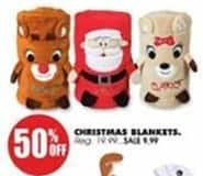 Blains Farm Fleet Black Friday: Christmas Blankets for $9.99