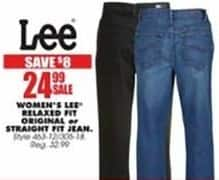 Blains Farm Fleet Black Friday: Lee Women's Relax Fit Jeans, Original or Straight Fits for $24.99