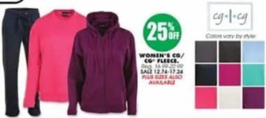 Blains Farm Fleet Black Friday: cg/cg Women's Fleece for $12.74 - $17.24