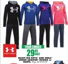 Blains Farm Fleet Black Friday: Select Under Armour Hoodie for Boys and Girls for $29.99