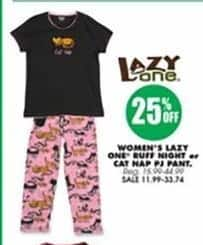 Blains Farm Fleet Black Friday: Lazy One Women's Ruff Night or Cat Nap PJ Pants - 25% Off