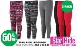 Blains Farm Fleet Black Friday: Star Ride Women's Leggings for $4.99 - $8.49