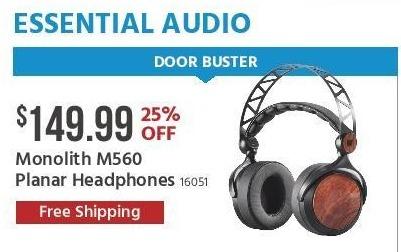 Monoprice Black Friday: Monolith M560 Planar Headphones for $149.99