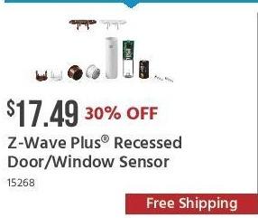 Monoprice Black Friday: Z-Wave Plus Recessed Door/Window Sensor for $17.49
