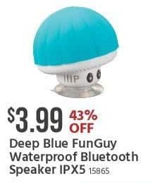 Monoprice Black Friday: Deep Blue FunGuy Waterproof Bluetooth Speaker IPX5 for $3.99