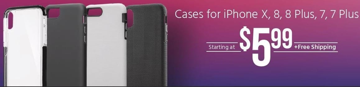 Monoprice Black Friday: Cases for iPhone X, 8, 8 Plus, 7 and 7 Plus - Starting at $5.99