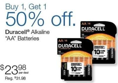 """Quill Cyber Monday: Duracell Alkaline """"AA"""" Batteries for $23.98"""