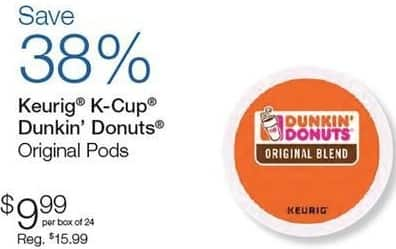 Quill Cyber Monday: Keurig K-Cup Dunkin' Donuts Original Pods, 24 Pk. for $9.99