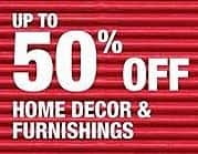 Home Depot Black Friday: Home Decor & Furnishings - Up to 50% Off