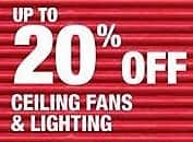 Home Depot Black Friday: Ceiling Fans & Lighting - Up to 20% Off