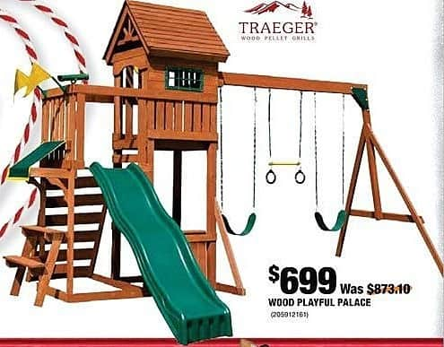 Home Depot Black Friday: Wood Playful Palace for $699.00
