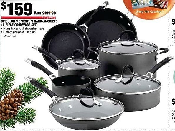 Home Depot Black Friday: Circulon Momentum Hard-Andized 11-Piece Cookware Set for $159.00