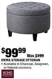 Home Depot Black Friday: Home Decorator's Collection Emma Storage Ottoman for $99.99