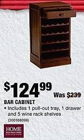 Home Depot Black Friday: Home Decorator's Collection Bar Cabinet for $124.99