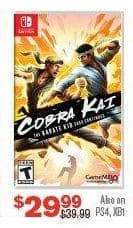 Gamestop Black Friday Cobra Kai The Karate Kid Saga Continues For Nintendo Switch Ps4 Xbox One For 29 99
